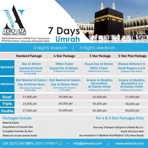 AERO VIZA â?? BEST HAJJ UMRAH PACKAGES 2017 â?? 2018 CAP