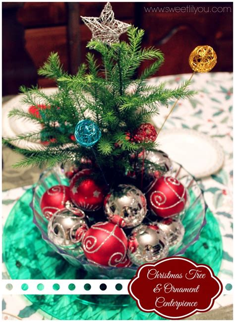 christmas centerpieces with ornaments quotes