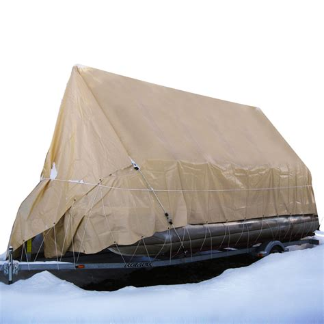 tarp boat cover cover for pontoon 23 24 ft with tarp 19x32