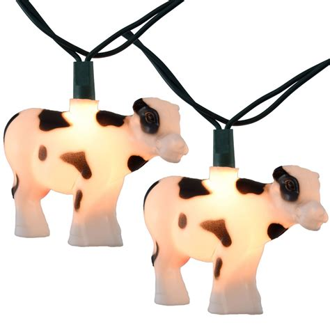 pig string lights cow farm animal string lights