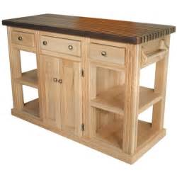 unfinished kitchen island bradley brand furniture cossatot oak island unfinished 2 2