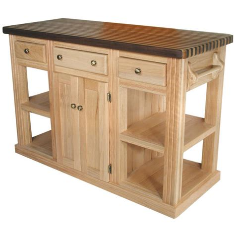 unfinished kitchen island bradley brand furniture cossatot oak island unfinished