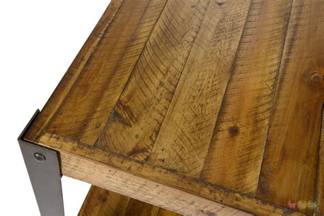 how to finish a wood table aspen rustic wooden slat end table in sawn wood finish
