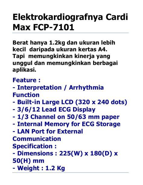 Paper Kertas Ekg Fukuda 63f30 ekg 3 channel interpretasi fukuda denshi cardi max fcp 7101