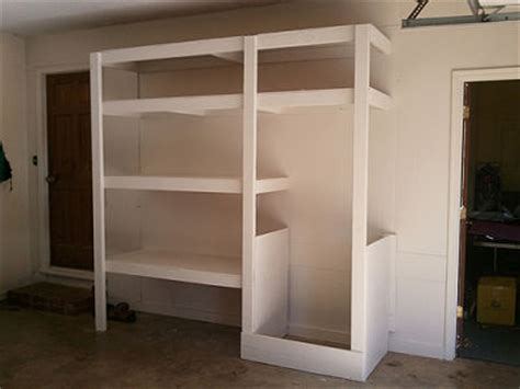 Garage Built In Shelving by Garage Shelving Systems An Overview Of Options