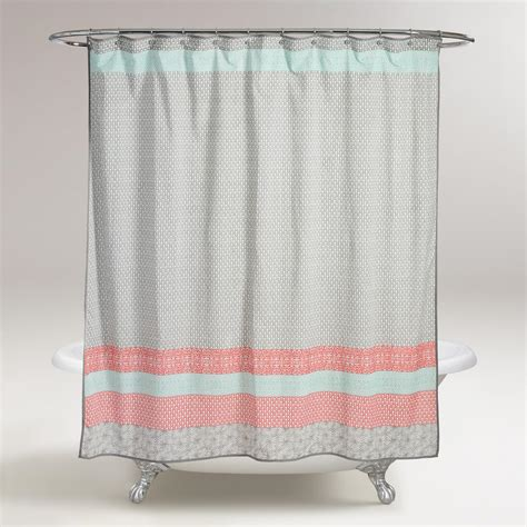 curtains world market dhara shower curtain world market