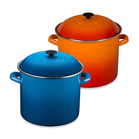 creuset pot le creuset 174 20 quart stock pot bedbathandbeyond ca