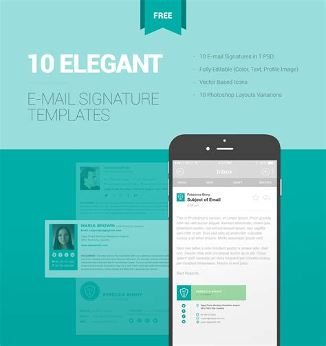 10 Free Email Signature Templates With Elegant Designs On Pantone Canvas Gallery Editable Email Signature Template