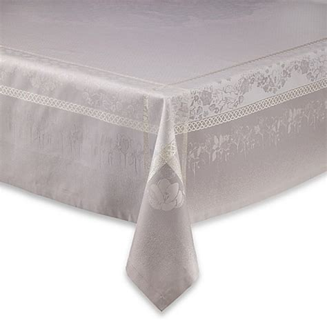 bed bath beyond tablecloth garnier thiebaut perce neige damask tablecloth and napkins
