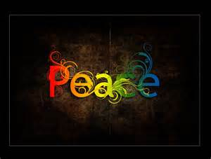 color of peace the word peace colorful wallpaper