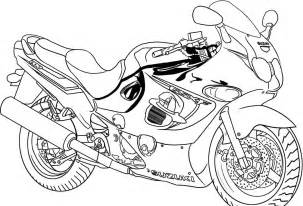 Motorcycle Coloring Pages For Kids sketch template