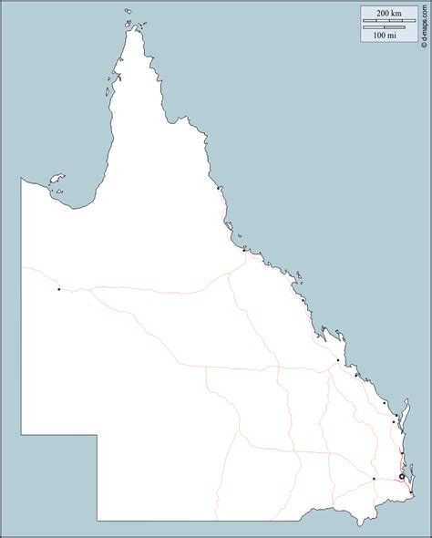 printable qld road map queensland free map free blank map free outline map