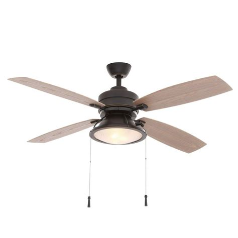 indoor outdoor ceiling fan with light hton bay kodiak 52 in indoor outdoor restoration