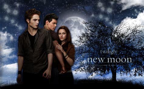 twilight new moon jacob bella and edward 335718 walldevil