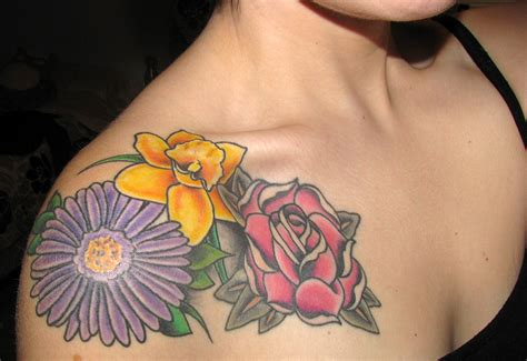 april birth flower tattoo my cover up tatt done los angeles ca by imxtana