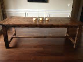 Make Dining Room Table by How To Build A Dining Room Table Plans Home Planning