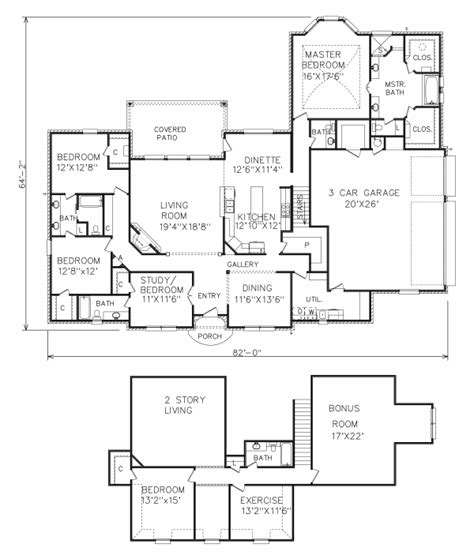 perry home plans floor plan 6153 2