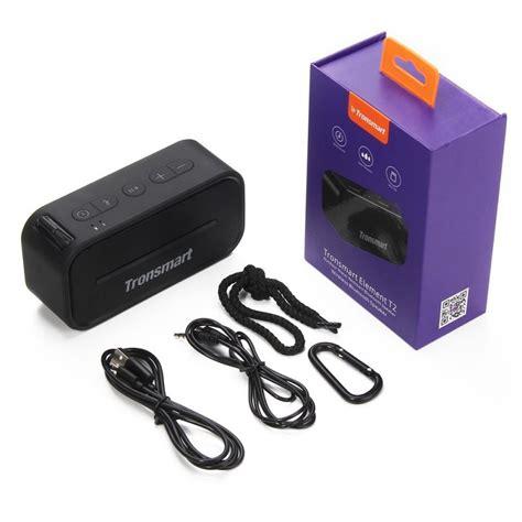 Tronsmart Element Portable Waterproof Bluetooth Speaker T2 tronsmart element t2 bluetooth 4 2 outdoor wasserdichter lautsprecher schwarz geekmaxi
