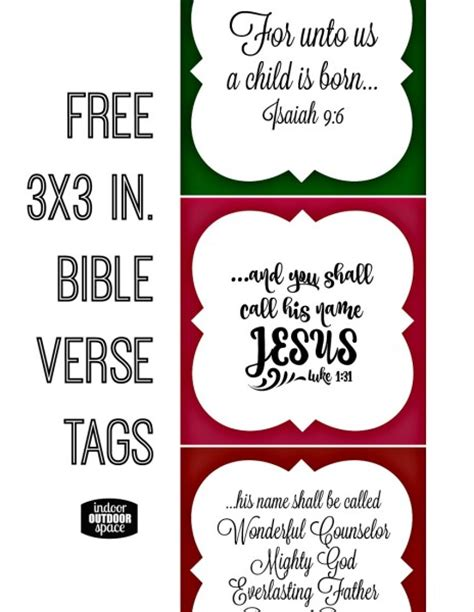 printable bible verse tags free christmas scripture verse printable for gift tags