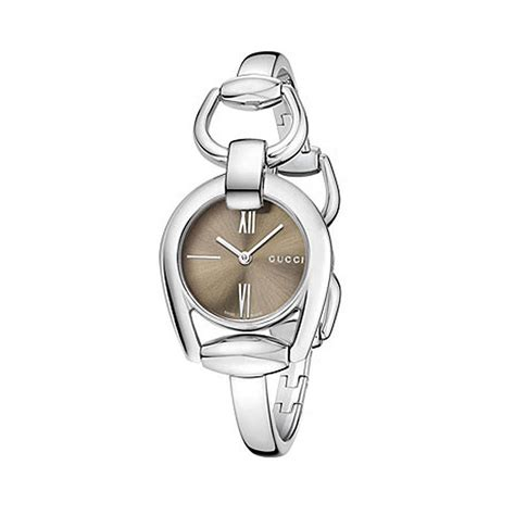 Gucci YA139501 Horsebit Stainless Steel Women's Bangle Watch