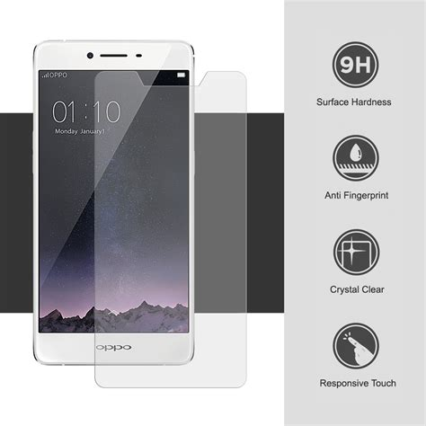 Oppo R7s Tempered Glass Nero Screen Guard Protector Bagus Keren Kuat 9h tempered glass screen protector oppo r7s r7sf clear