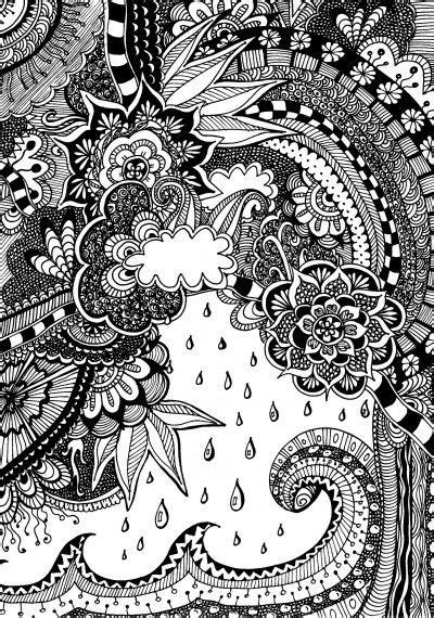 doodle nature free coloring page for adults nature with doodles