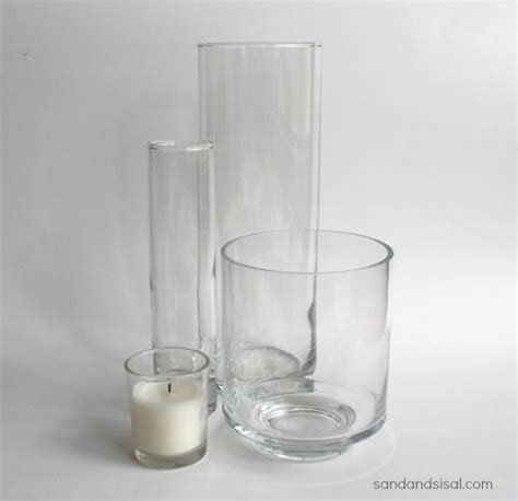 How To Clean Glass Vases by Easy Etched Glass Vases Sand And Sisal