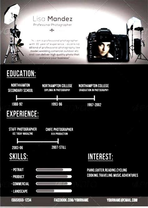 Best Resume Format For Photographer by Professional Photographer Resume Free Sles Exles