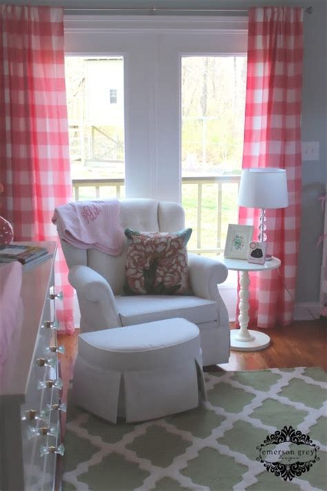 red and white buffalo check curtains bonjour pale blue and pink nursery buffalo check drapes
