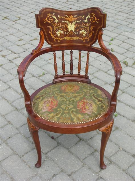 antique mahogany desk chairs antique mahogany inlaid desk chair antiques atlas