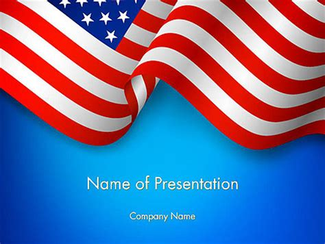 American Patriotism Presentation Template For Powerpoint And Keynote Ppt Star Patriotic Powerpoint Templates