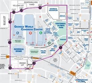 Atlanta Attractions Map by Walking Map Downtown Atlanta Downtown Map Of Atlanta