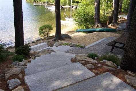 Landscape Timbers Nh Lakes Region Nh Landscape Company Nh Lakeside Paver