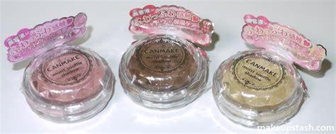 canmake moist souffle shadows makeup stash