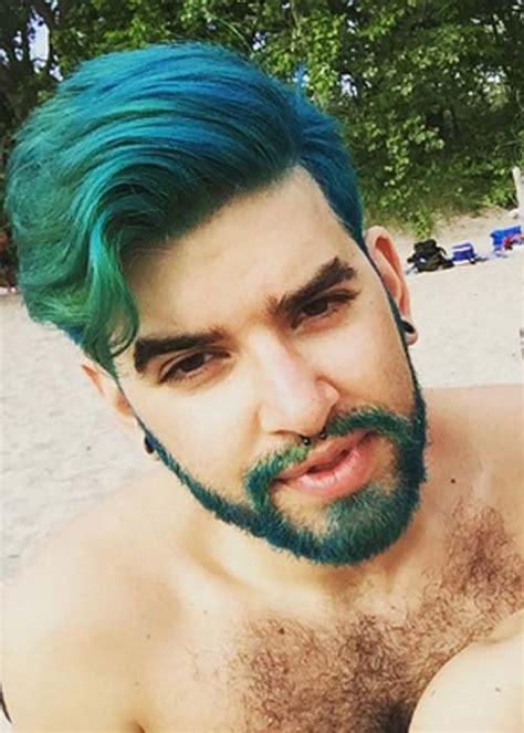 moda cabellos moda merman color de pelo y barba en hombres