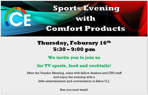 Comfort Products Lenexa cpd annual meeting lenexa comfort products