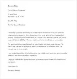 Complaint Letter For Poor Service Exle Customer Complaint Letter 9 Free Word Pdf Documents