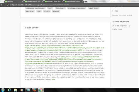 Letter Sle For Upwork Iphone Programmer Cover Letter Appliance Installer Cover Letter Hr Trainer Cover Letter