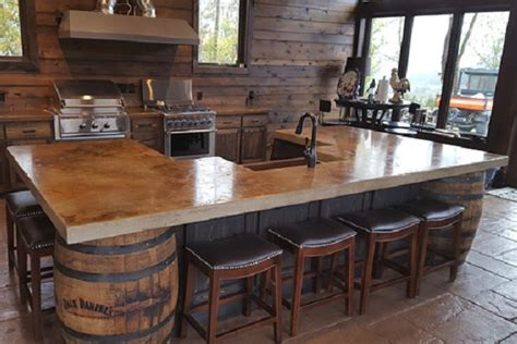 rough cut bar tops concrete countertops concrete decor
