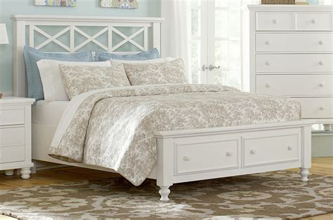 white queen bed frame with storage white bed frame with storage vaughan bassett ellington