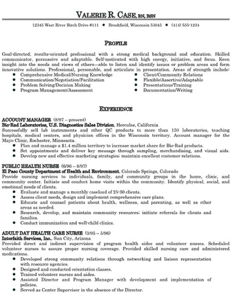 Care Sle Resume by Healthcare Sales Resume Exle Resume Exles Free Resume And Rn Resume