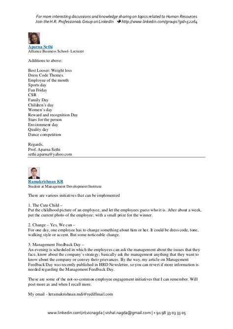 email format guess employee engagement activities