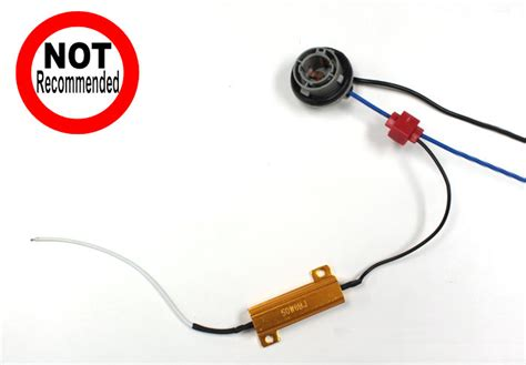 led load resistors install how to install 50w 6 ohm load resistor for led turn signal lights ijdmtoy
