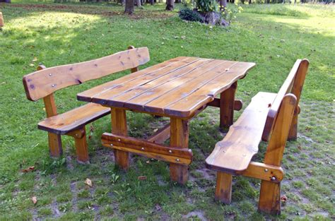 picnic table with separate benches 31 alluring picnic table ideas