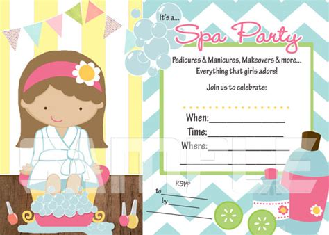 spa invitations templates free 7 best images of blank printable spa invitations 9 year