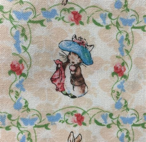 Rabbit Quilt Fabric by Beatrix Potter Fabric Rabbit Fabric Quilting