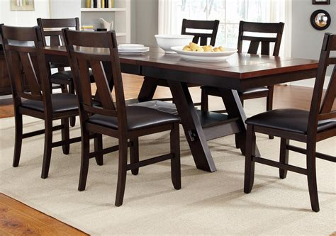 rectangular kitchen table cityscape trestle rectangular dining table rotmans