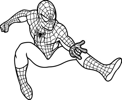 Spiderman Coloring Page | free printable spiderman coloring pages for kids