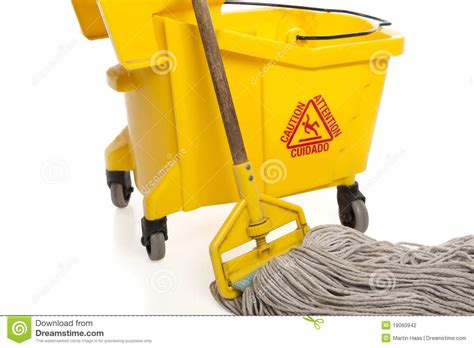 Industrial Mop And Bucket Close up Stock Photography   Image: 19060942