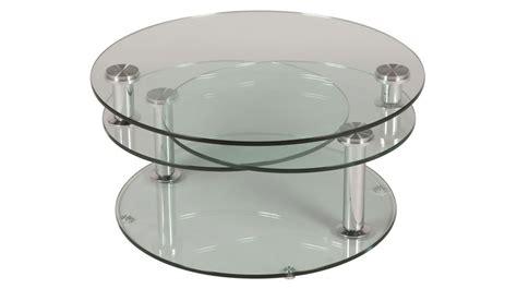 grande table basse en verre ronde 3 plateaux table basse